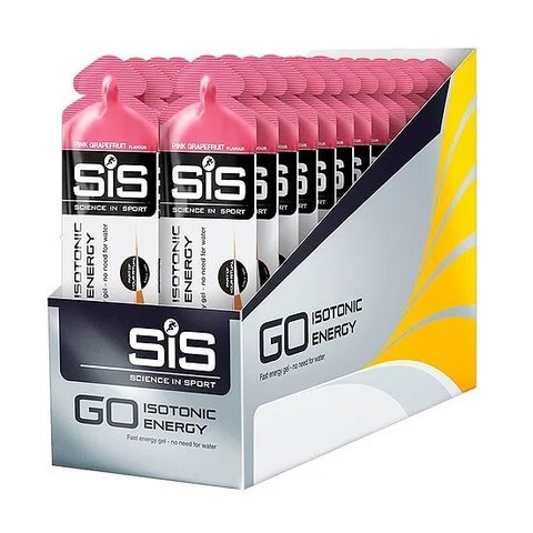 Гель углеводный изотонический Sience in Sport Go Isotonic Gel, упаковка 30х60 ml, Розовый грейпфрут