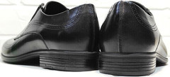Классические мужские туфли натуральная кожа Ikoc 3416-1 Black Leather.