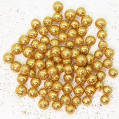 Шарики пенопласт, золото, металлик, 7-10 мм, 250 мл.
