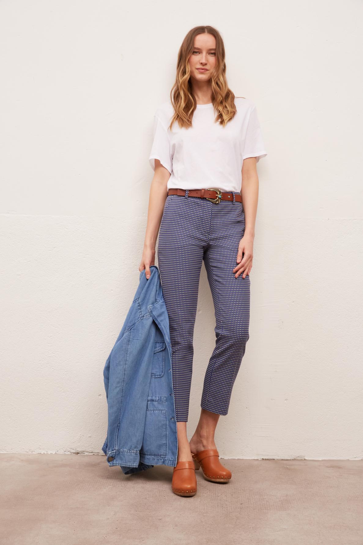 MELANIA - брюки длины 7/8 из жаккарда