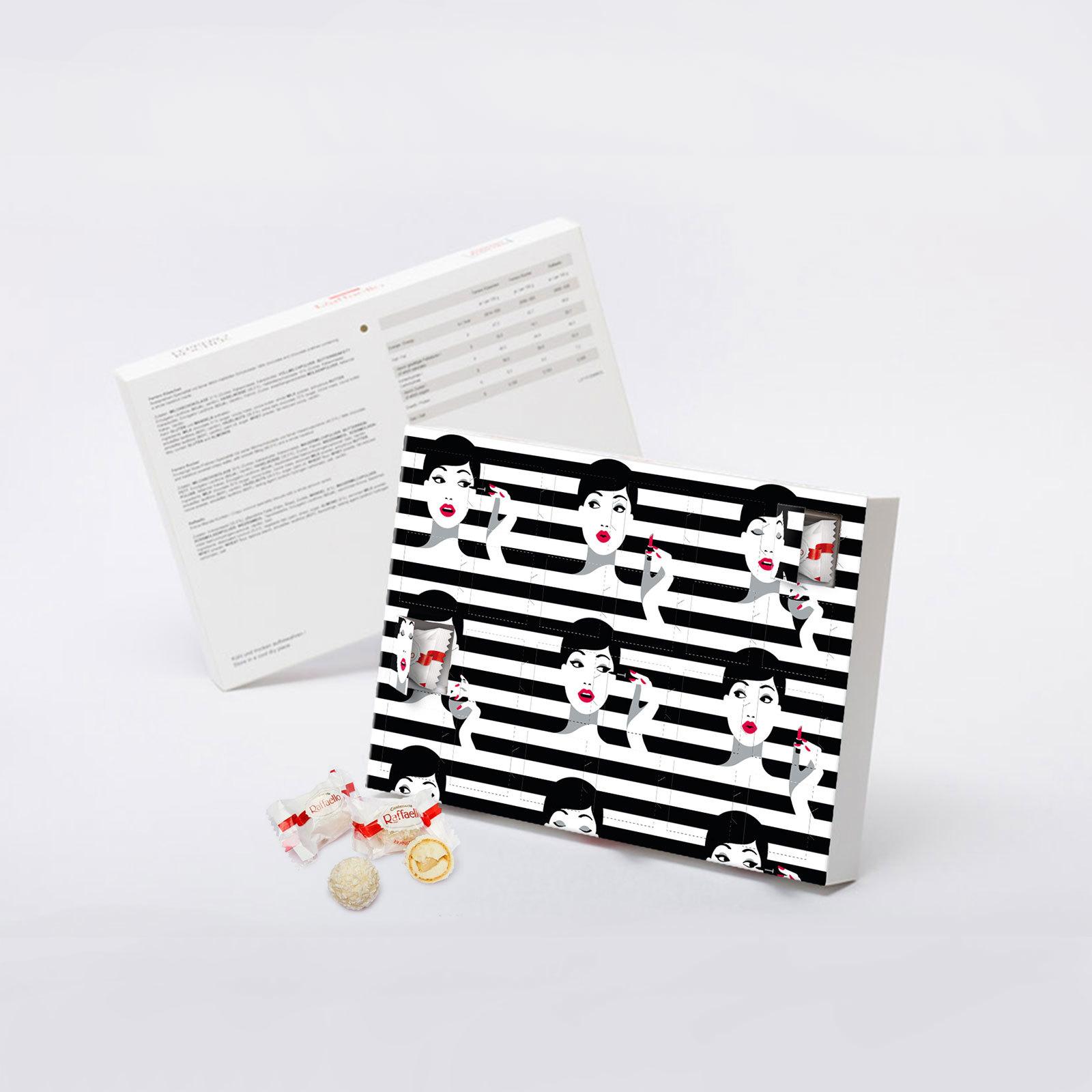 Корпортативная подарочная коробка с конфетами Raffaello на 8 марта