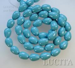 5821 Хрустальный жемчуг Сваровски Crystal Turquoise грушевидный 11х8 мм