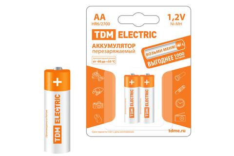 Аккумулятор AA-2700 mAh Ni-MH BP-2 TDM