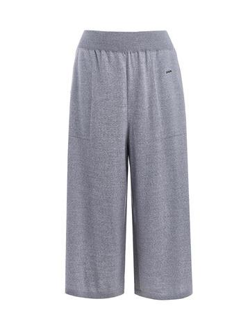 Женские серые брюки из 100% шерсти - фото 1