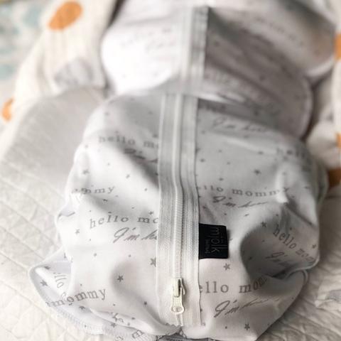 Пелёнка-кокон Mjölk Basic Hello Mommy, уценка