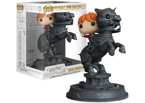 Funko Pop! Movie Moment. Harry Potter: Ron Weasley riding Chess Piece ||  Рон Уизли на шахматном коне
