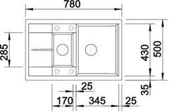 Мойка кухонная Blanco Metra 6S Compact  - вид сверху
