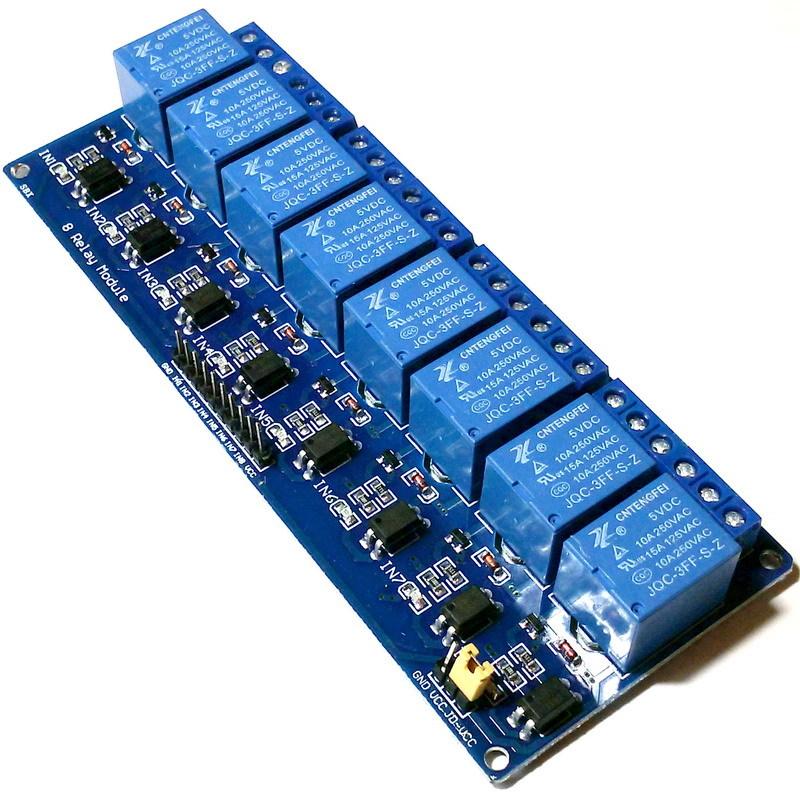 Релейный модуль 8 каналов 5В