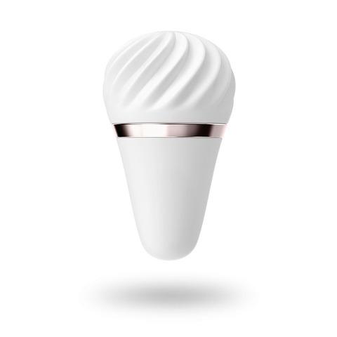 Satisfyer Layons White Sweet Sensation Нежный силиконовый вибромассажер белый
