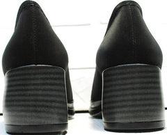 Женские осенние туфли черные на широком каблуке 6 см H&G BEM 167 10B-Black.