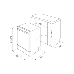 Посудомоечная машина Maunfeld MLP-12IM схема