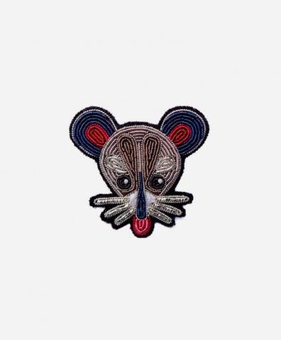 Брошь Rat head