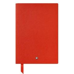 Записная книжка А5 красная, линованные страницы MONTBLANC