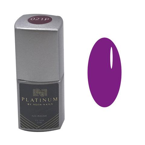 Неоновый фиолетовый маникюр гель-лаками PLATINUM