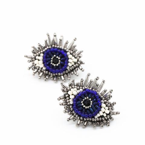 Серьги Глаза (синие)