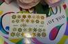 Фольга для дизайна ногтей цвет золото 4 купить за 120руб