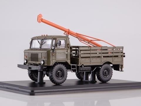 GAZ-66 Drilling machine BM-302 khaki-orange 1:43 Start Scale Models (SSM)