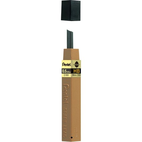 Грифели 0,5 мм Pentel Hi-Polymer HB
