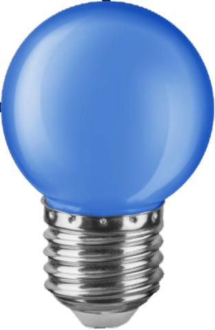 Лампа Navigator 71 829 NLL-G45-1-230-B-E27 Голубая