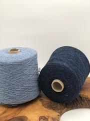 Твид c шерстью (55%) и шелком (20%) Silente  G G Filati 700 темно-синий  джинс