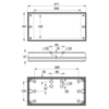 Размеры промышленного потолочного светильника аварийного освещения высоких помещений SOLID Line MIDBAY IP65