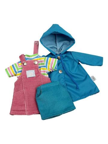 Комплект с сарафаном - Голубой. Одежда для кукол, пупсов и мягких игрушек.