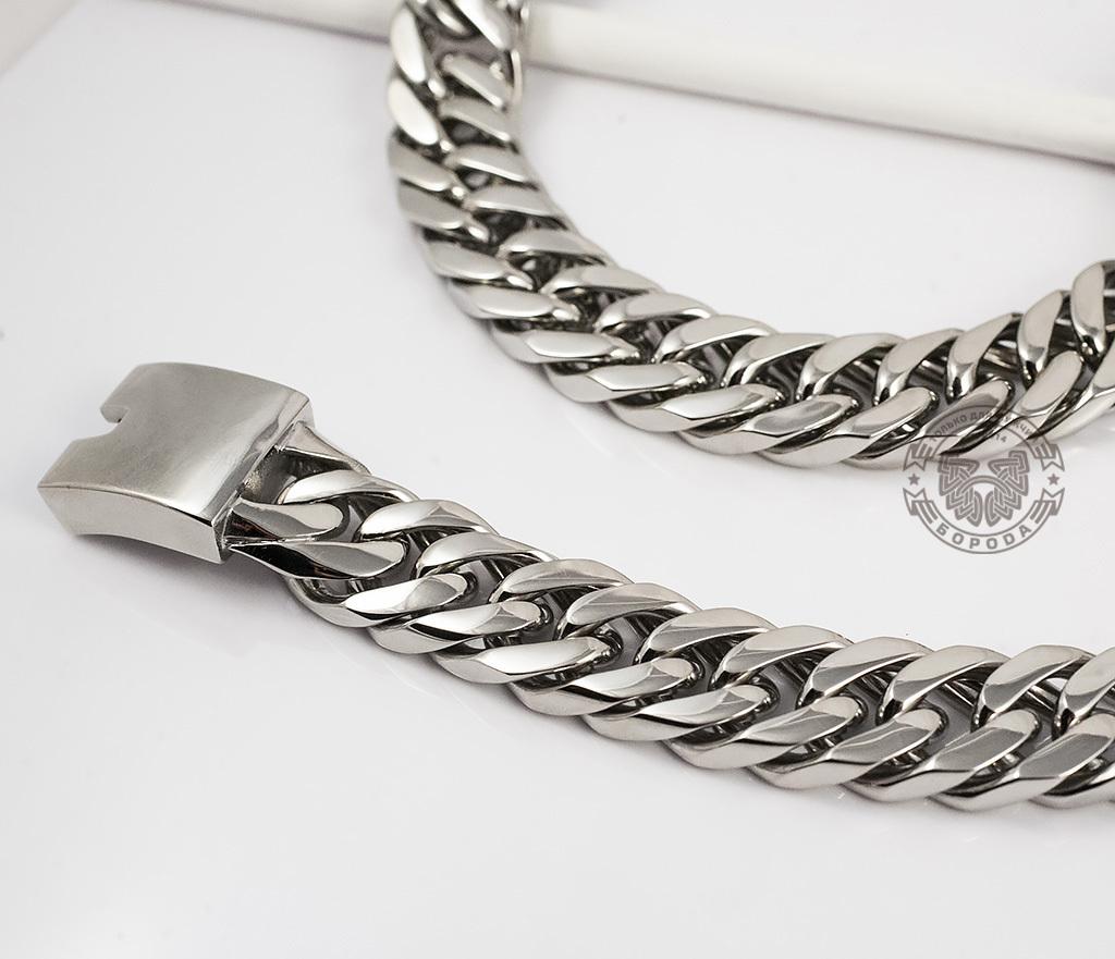 PM201 Широкая, массивная цепь из ювелирной стали (60 см) фото 03