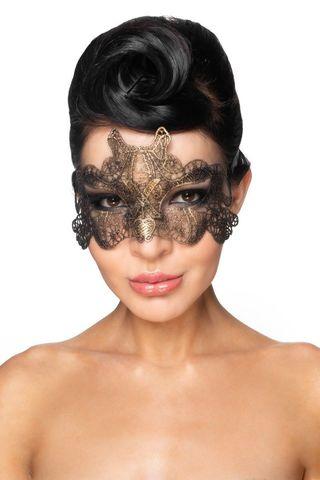 Золотистая карнавальная маска  Талиман
