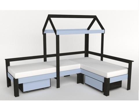 Кровать-домик АВАРА-1 с ящиками левая 1700-700 /2552*1800*1832/