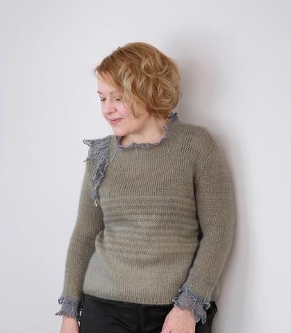 Описание свитера CRYSTAL WING (автор Лена Родина)