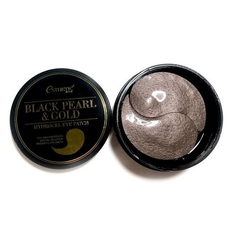 Esthetic House Гидрогелевые патчи для глаз с золотом и чёрным жемчугом Black Pearl & Gold Hydrogel Eye Patch, 60 шт