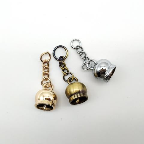 колокольчик- подвеска для кисточки на цепочке,1.6*2 см