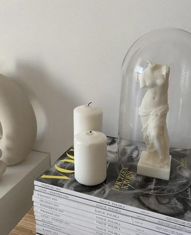 La Van De Свеча из натурального воска Венера белая Natural Wax Venus White Candle