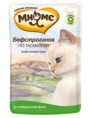 Пауч для кошек Мнямс Бефстроганов по-тасмански (с мясом страуса)