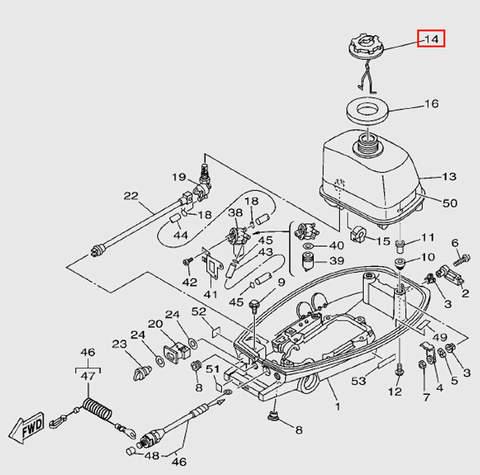 Крышка горловины бака для лодочного мотора T5 Sea-PRO (7-14)