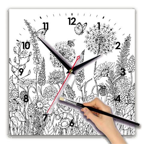 Часы раскраска сложная
