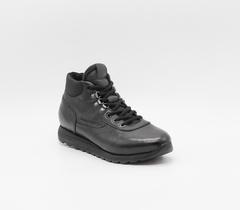 Кожаные черные ботинки на шнуровке