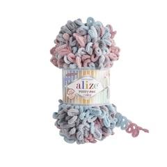 Пряжа Alize Puffy Fine Color цвет 6041