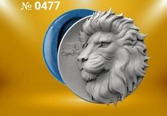 Силиконовый молд   Лев  (медальон)  № 0477