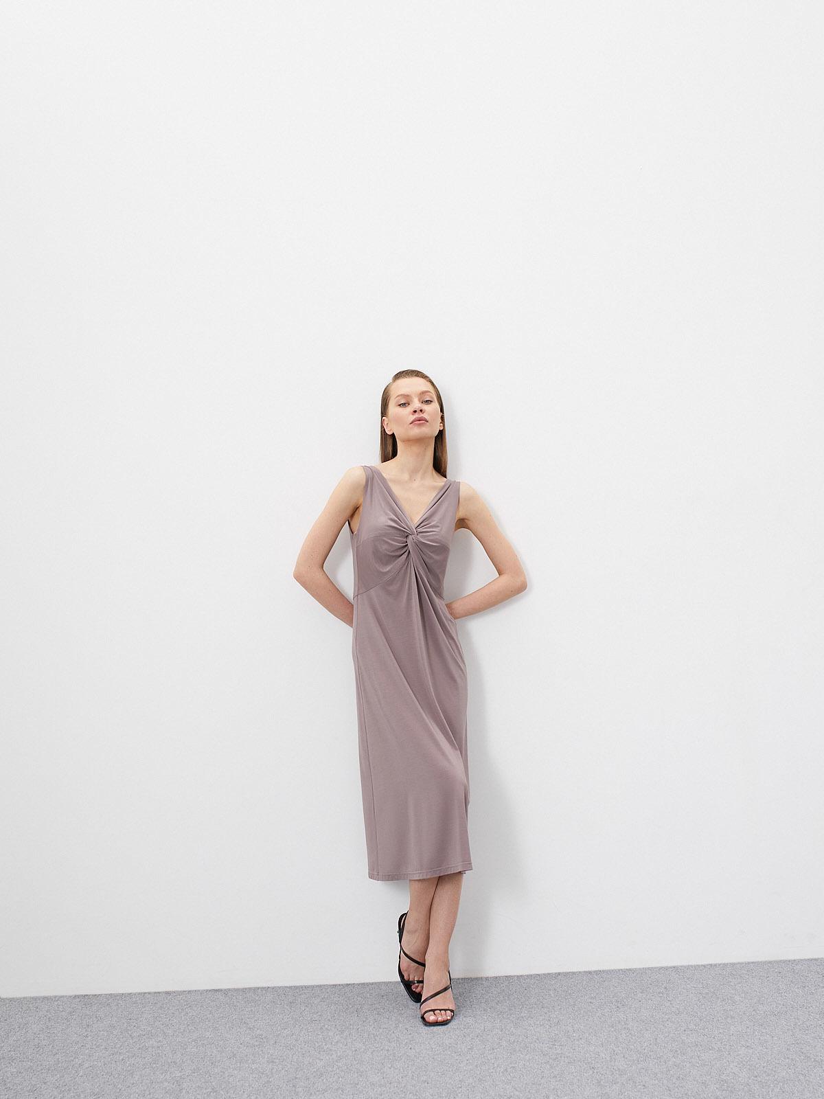 Платье  Domenik трикотажное с узлом