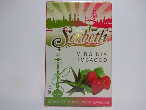 Табак для кальяна SERBETLI Strawberry Aloe Vera 50gr