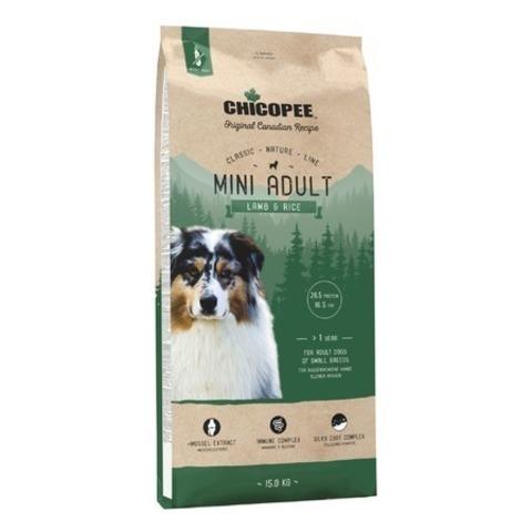Chicopee CNL Mini Adult Lamb & Rice сухой корм для взрослых собак мелких пород с ягненком и рисом, 15 кг.