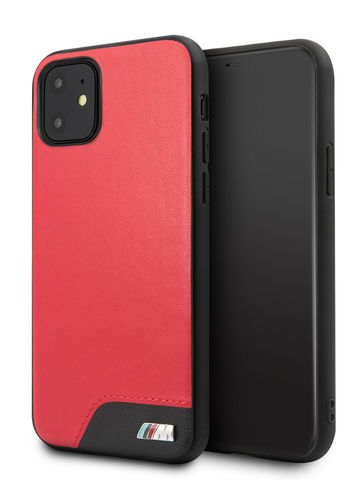 BMW / чехол для телефона iPhone 11 | M-Collection Smooth PU Hard Red
