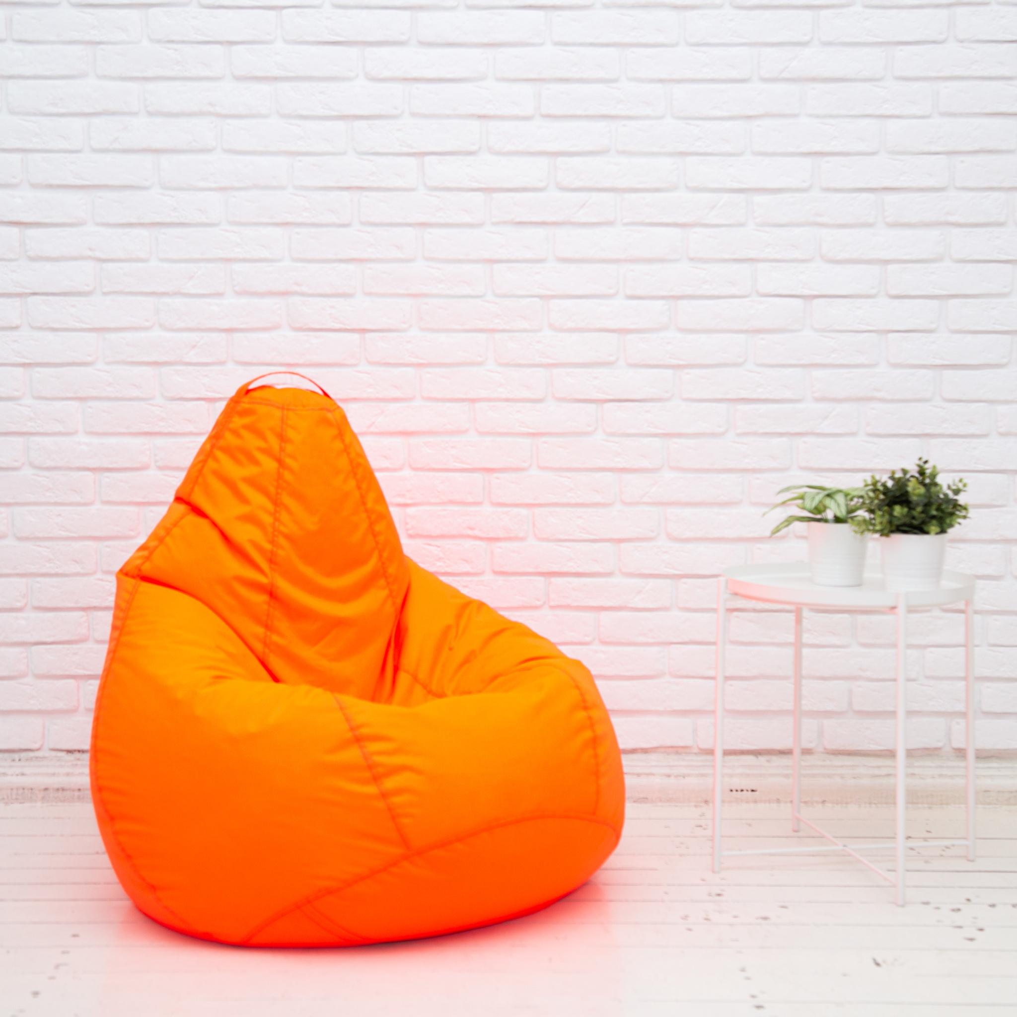 Груша M плащёвка, съёмный чехол (неоново-оранжевая)