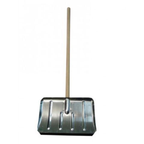 Лопата для уборки снега ковш стальной (50x30 см) с черенком