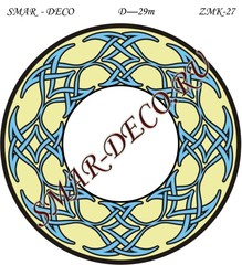 Эскиз для росписи, Зеркало диаметр 29см, SMAR-zmk-27