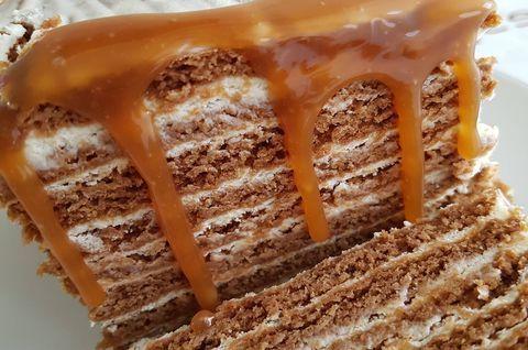 Торт «Медовик Карамельный» без глютена