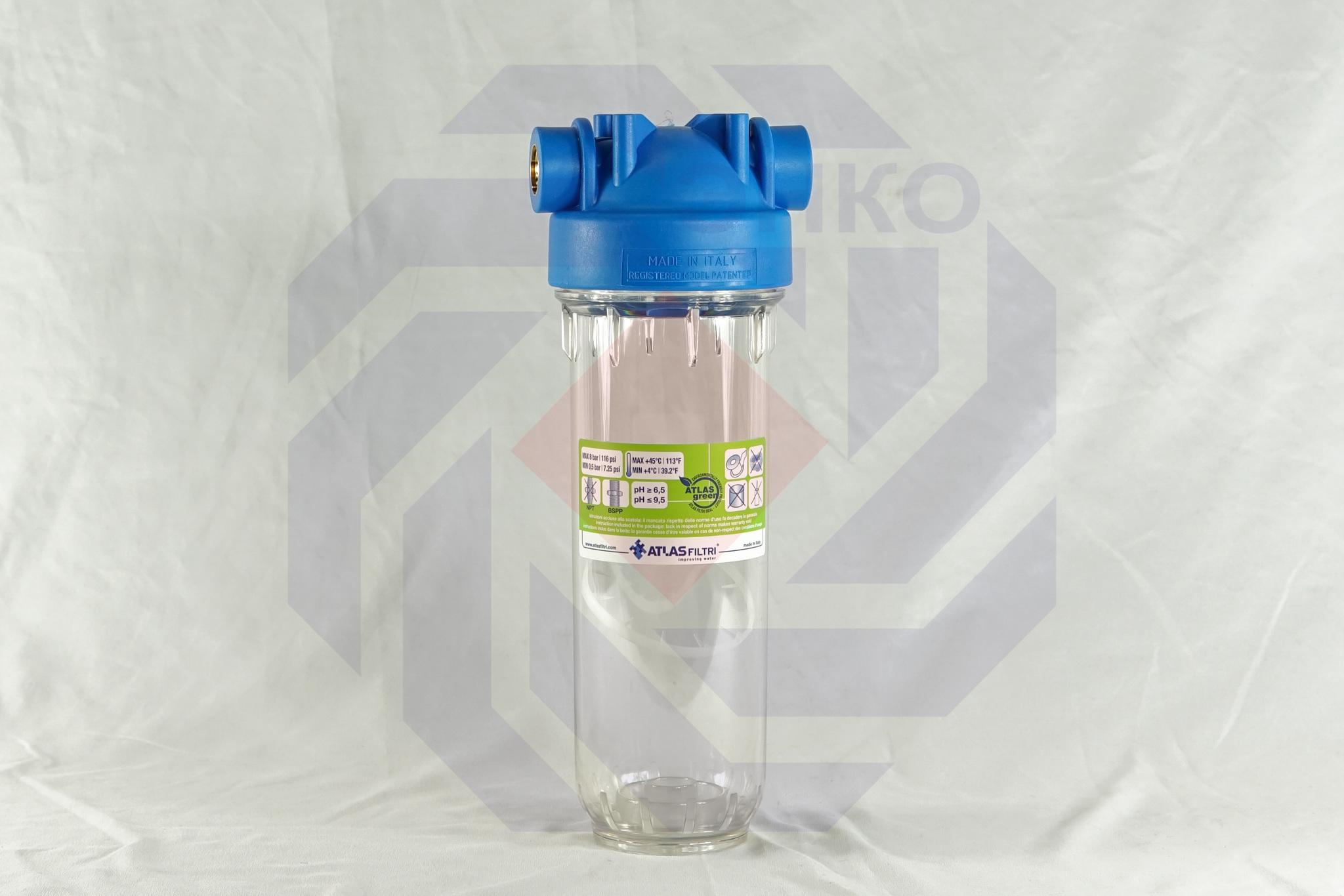 Корпус фильтра одинарный ATLAS DP 10 MONO OT TS ½