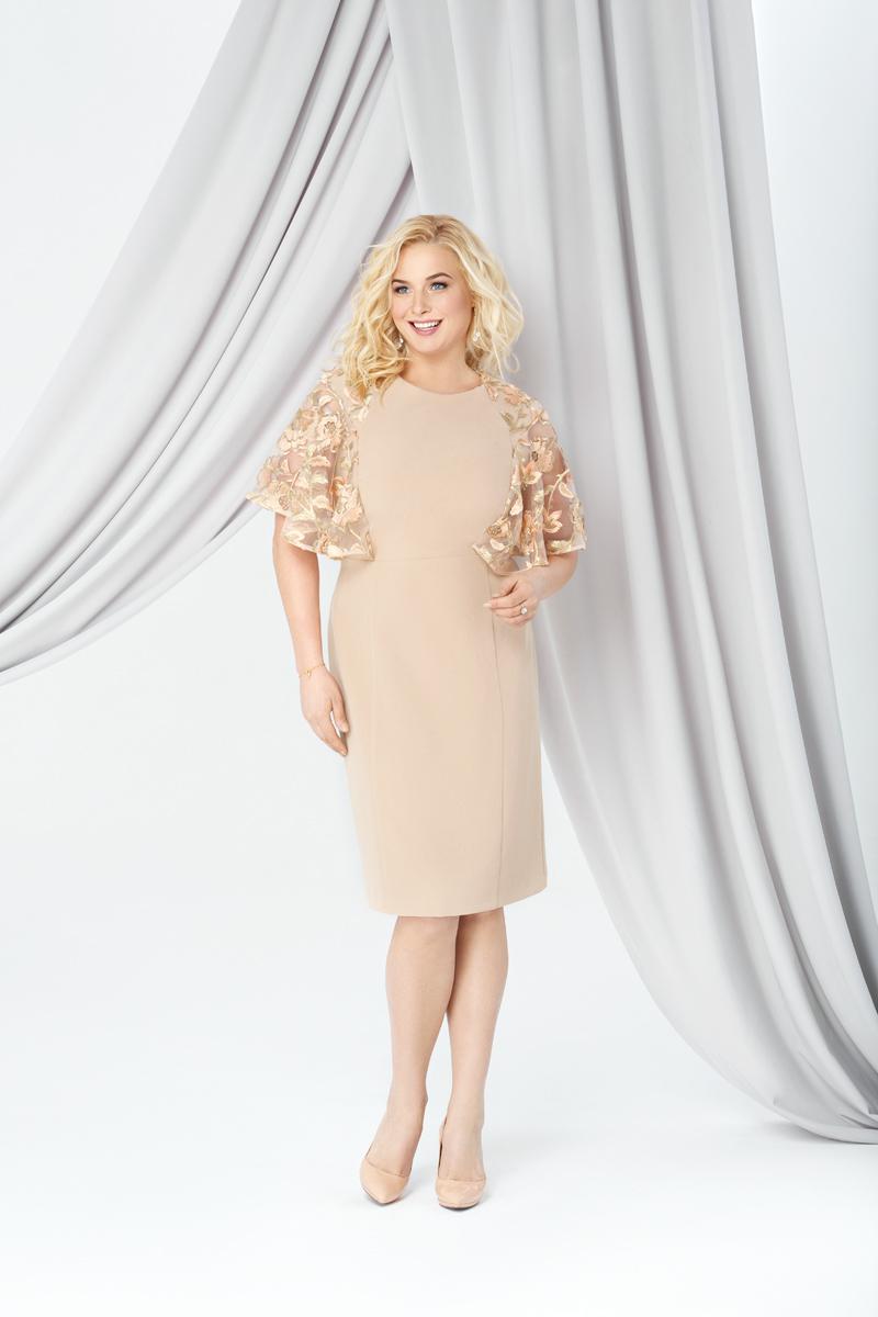 Платья Коктейльное платье в персиковом с золотом цвете 0269 0269_011.jpg