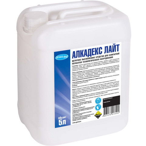 Средство для санитарной обработки технологического оборудования Алкадекс Лайт 5 л (концентрат)